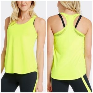 Fabletics Mesa Tank in Yellow Neon